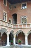 Krakow August 19,2014:The University Jagiellonskiego courtyard in Krakow,Poland stock photography
