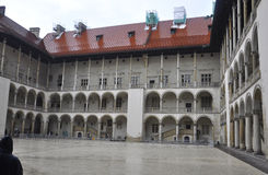 Krakow August 19,2014:Wawel Royal Palace courtyard in Krakow,Poland Stock Photography