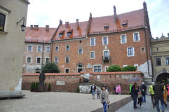 Krakow August 19,2014: Wawel Royal Palace from Krakow Poland Royalty Free Stock Photography