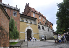 Krakow August 19,2014:Wawel Royal Palace in Krakow,Poland Royalty Free Stock Photo