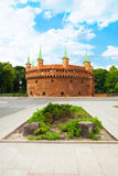 Krakow Barbican (Basztowa) in Poland Royalty Free Stock Photo