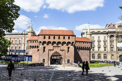 Krakow Barbican Fortress Royalty Free Stock Photography