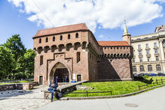 Krakow Barbican Fortress Royalty Free Stock Image