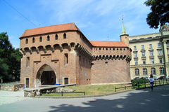 The Krakow Barbican in Poland Royalty Free Stock Image