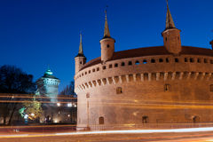Krakow - the best preserved barbican in Europe Royalty Free Stock Image