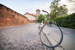 Krakow by bike Royalty Free Stock Photography