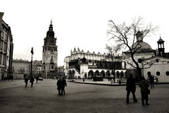 Krakow in black and white royalty free stock photo