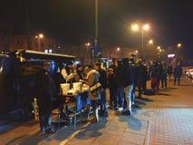 Krakow, Blue Nyska at night Royalty Free Stock Photos