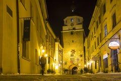 Krakow brama w Lublin starym miasteczku, Polska Obrazy Stock