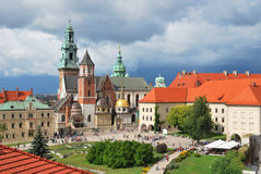 Krakow. Catedral de Wawel fotos de stock royalty free