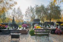 Krakow cemetery in autumn Stock Photo