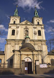 Krakow church. Polish church in the city of krakow Royalty Free Stock Images