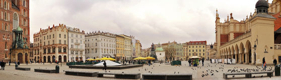 The Krakow city panoramic view Stock Image