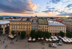 Krakow cityscape, day photo in Poland. Stock Images