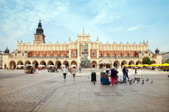 The Krakow Cloth Hall at the main market square in the Krakow Stock Photo