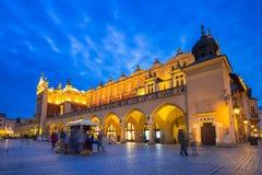 The Krakow Cloth Hall on the Main Square at night. Poland Stock Photo