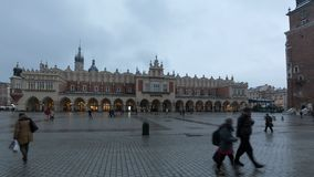 Krakow Cloth Hall stock footage