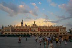 Krakow Cloth Hall in Poland Stock Photos