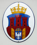 Krakow, Coat of arms. Kraków is one of the largest and oldest cities in Poland and a popular tourist destination stock photo