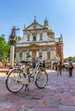 Krakow (Cracow)-bike sightseeing-Old Town Stock Images