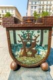 Krakow (Cracow) - moneybox-strömförsörjning fyrkant Royaltyfri Fotografi