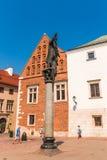 Krakow (Cracow)-Piotr Skarga monument stock image
