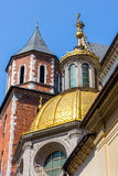 Krakow (Cracow)- Poland- Wawel Cathedral- gold dome Royalty Free Stock Image