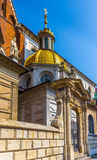 Krakow (Cracow)- Poland- Wawel Cathedral- gold dome Royalty Free Stock Images