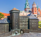 Krakow (Cracow)- Poland- Wawel Hill, Cathedral, towers, model Stock Photography