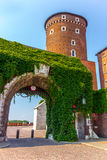 Krakow (Cracow)-Wawel Hill-Sandomierska Tower gate Royalty Free Stock Images