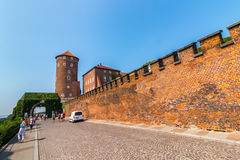 Krakow (Cracow)-Wawel Hill-Sandomierska Tower gate Stock Photography