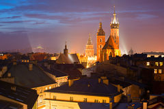 Krakow at dusk Stock Photography
