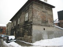 Krakow forntida byggnad royaltyfri foto