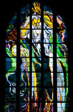 Krakow - Franciscan Church - Poland. Wyspianski's stained glass window in the Franciscan Church in the city of Krakow in Poland. The church was first built in Royalty Free Stock Images