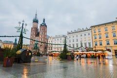 Krakow główny plac obrazy stock