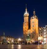 Krakow Główny Targowy kwadrat Obrazy Royalty Free