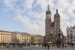 Krakow - Główny Targowy kwadrat Obraz Stock