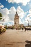Krakow gammal centrumsikt arkivfoto