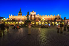 Krakow huvudsaklig fyrkant Arkivfoton
