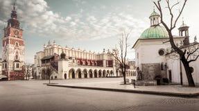 Krakow huvudsaklig fyrkant royaltyfri foto