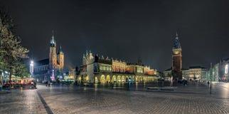 Krakow huvudsaklig fyrkant Fotografering för Bildbyråer