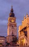 Krakow klockatorn Fotografering för Bildbyråer