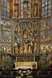 Krakow - kyrka av St Mary - Polen Arkivbilder