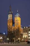 Krakow - kyrka av St Mary - Polen Arkivfoto