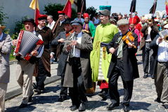 krakow lajkonikpoland procession Royaltyfri Fotografi