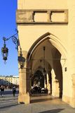Poland, Cracow Old Town, Cloth Hall and medieval tenements by Main Market Square Royalty Free Stock Images
