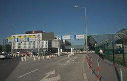 Krakow lotnisko Polska, Balice, - zdjęcie stock