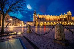 Krakow magistrali rynek Fotografia Royalty Free