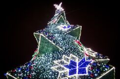 Krakow Main Market Christmas Tree, Poland Stock Photography