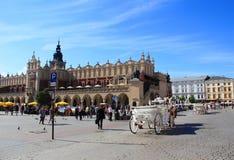 Krakow, Main market square Royalty Free Stock Image